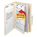 SMEAD MANUFACTURING CO. SMD19000 Manila Classification Folders With 2/5 Right Tab, Legal, Six-Section, 10/box