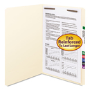 SMEAD MANUFACTURING CO. SMD19510 Folders, One Fastener, Straight Cut, Top Tab, Legal, Manila, 50/box