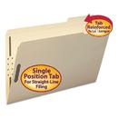 SMEAD MANUFACTURING CO. SMD19538 Folder, Two Fasteners, 1/3 Cut Third Position, Top Tab, Legsl, Manila, 50/box