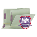 SMEAD MANUFACTURING CO. SMD19920 Two Inch Expansion Fastener Folder, 2/5 Right Tab, Legal, Gray Green, 25/box