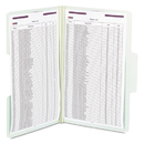 Smead SMD19981 Supertab Folders With Safeshield Fasteners, 1/3 Cut, Legal, Gray/green, 25/box