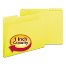 SMEAD MANUFACTURING CO. SMD21562 Recycled Folders, One Inch Expansion, 1/3 Top Tab, Letter, Yellow, 25/box