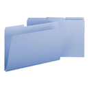 SMEAD MANUFACTURING CO. SMD22530 Recycled Folders, One Inch Expansion, 1/3 Cut Top Tab, Legal, Blue, 25/box