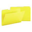 SMEAD MANUFACTURING CO. SMD22562 Recycled Folder, One Inch Expansion, 1/3 Cut Top Tab, Legal, Yellow, 25/box