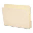Smead SMD24130 End Tab File Folder, 1/3 Tab, Assorted, Letter, Manila, 100/box