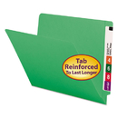 SMEAD MANUFACTURING CO. SMD25110 Colored File Folders, Straight Cut, Reinforced End Tab, Letter, Green, 100/box