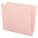 SMEAD MANUFACTURING CO. SMD25610 Colored File Folders, Straight Cut, Reinforced End Tab, Letter, Pink, 100/box