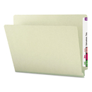 SMEAD MANUFACTURING CO. SMD26200 Heavy Duty Folders, End Tab, One Inch Expansion, Letter, Gray Green, 25/box