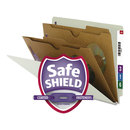 SMEAD MANUFACTURING CO. SMD26710 Pressboard End Tab Classification Folder, Pockets, Letter, Six-Section, 10/box