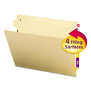 SMEAD MANUFACTURING CO. SMD26825 Manila End Tab Classification Folders, Letter, Four-Section, 10/box
