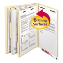 SMEAD MANUFACTURING CO. SMD26835 Manila End Tab Classification Folders, Letter, Six-Section, 10/box