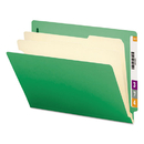 SMEAD MANUFACTURING CO. SMD26837 Colored End Tab Classification Folders, Letter, Six-Section, Green, 10/box