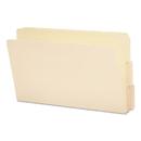 SMEAD MANUFACTURING CO. SMD27134 Folders, 1/3 Cut Assorted, Reinforced End Tab, Legal, Manila, 100/box