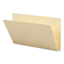 SMEAD MANUFACTURING CO. SMD27250 Folders, Straight Cut, Single-Ply Extended End Tab, Legal, Manila, 100/box