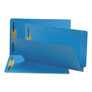 SMEAD MANUFACTURING CO. SMD28040 Two-Inch Capacity Fastener Folders, Straight Tab, Legal, Blue, 50/box