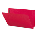 SMEAD MANUFACTURING CO. SMD28740 Two-Inch Capacity Fastener Folders, Straight Tab, Legal, Red, 50/box