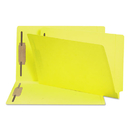 SMEAD MANUFACTURING CO. SMD28940 Two-Inch Capacity Fastener Folders, Straight Tab, Legal, Yellow, 50/box