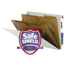 SMEAD MANUFACTURING CO. SMD29710 Pressboard End Tab Classification Folder, Pockets, Legal, Six-Section, 10/box