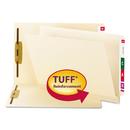 Smead SMD34105 Reinforced End Tab Fastener Folder, Two Fasteners, Letter, Manila, 50/bx