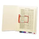SMEAD MANUFACTURING CO. SMD34112 U-Clip File Folders, Straight Tab, Letter, Manila, 50/box