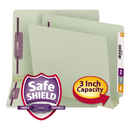 SMEAD MANUFACTURING CO. SMD34725 Three Inch Expansion Folder, Two Fasteners, End Tab, Letter, Gray Green, 25/box