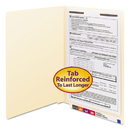 SMEAD MANUFACTURING CO. SMD37110 Manila Folders, One Fastener, End Tab, Legal, 11pt Manila, 50/box