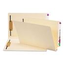 SMEAD MANUFACTURING CO. SMD37276 W-Fold Manila Expansion Folders, Two Fasteners, End Tab, Legal, Manila, 50/box