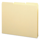 SMEAD MANUFACTURING CO. SMD50134 Recycled Tab File Guides, Blank, 1/3 Tab, 18 Pt. Manila, Letter, 100/box