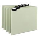 SMEAD MANUFACTURING CO. SMD50576 Recycled Top Tab File Guides, Alpha, 1/5 Tab, Pressboard, Letter, 25/set