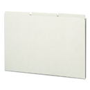 SMEAD MANUFACTURING CO. SMD52334 Recycled Tab File Guides, Blank, 1/3 Tab, Pressboard, Legal, 50/box