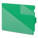 Smead SMD61962 Out Guides W/diagonal-Cut Pockets, Poly, Letter, Green, 50/box