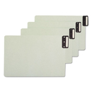 SMEAD MANUFACTURING CO. SMD63235 End Tab Guides, Blank, Vertical Metal Tabs, Pressboard, Legal, 50/box