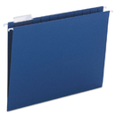 SMEAD MANUFACTURING CO. SMD64057 Hanging File Folders, 1/5 Tab, 11 Point Stock, Letter, Navy, 25/box