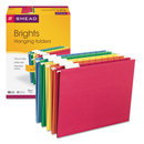 SMEAD MANUFACTURING CO. SMD64059 Hanging File Folders, 1/5 Tab, 11 Point Stock, Letter, Assorted Colors, 25/box