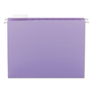 SMEAD MANUFACTURING CO. SMD64064 Hanging File Folders, 1/5 Tab, 11 Point Stock, Letter, Lavender, 25/box
