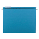 SMEAD MANUFACTURING CO. SMD64074 Hanging File Folders, 1/5 Tab, 11 Point Stock, Letter, Teal, 25/box