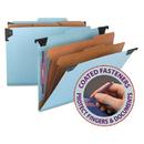 Smead SMD65115 Six Section Hanging Classification Folder, Pressboard/kraft, Letter, Blue
