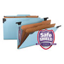 SMEAD MANUFACTURING CO. SMD65165 Six Section Hanging Classification Folder, Pressboard/kraft, Legal, Blue