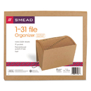 SMEAD MANUFACTURING CO. SMD70168 1-31 Indexed Expanding Files, 31 Pockets, Kraft, Letter, Kraft