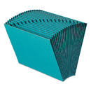 SMEAD MANUFACTURING CO. SMD70717 Heavy-Duty A-Z Open Top Expanding Files, 21 Pockets, Letter, Teal