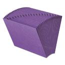 Smead SMD70721 Heavy-Duty A-Z Open Top Expanding Files, 21 Pockets, Letter, Purple
