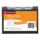 Smead SMD70901 Step Index Organizer, 12-Pocket, Letter, Poly, Black