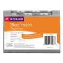 Smead SMD70903 Step Index Organizer, 12-Pocket, Letter, Poly, Silver
