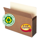 SMEAD MANUFACTURING CO. SMD73206 100% Recycled Pocket, 5 1/4 Inch Exp, Letter, Redrope, 10/box