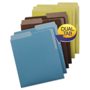 Smead SMD75405 Organized Up Heavyweight Vertical Folders, Assorted Earth Tones, 6/pack