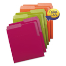 Smead SMD75406 Organized Up Heavyweight Vertical Folders, Assorted Bright Tones, 6/pack