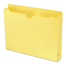 SMEAD MANUFACTURING CO. SMD75571 Colored File Jackets With Reinforced Double-Ply Tab, Letter, Yellow, 50/box
