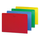 SMEAD MANUFACTURING CO. SMD75613 Colored File Jackets W/reinforced 2-Ply Tab, Letter, Assorted, 100/box