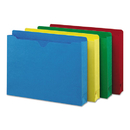 SMEAD MANUFACTURING CO. SMD75673 Colored File Jackets W/reinforced 2-Ply Tab, Letter, Assorted Colors, 50/box