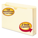 SMEAD MANUFACTURING CO. SMD76560 Manila File Jackets, 2-Ply Top, 2